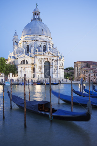 Gondolas on Canal Grande with Basilica Stock photo © vwalakte