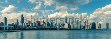 Panoramic view of Dubai, special photographic processing Stock photo © vwalakte