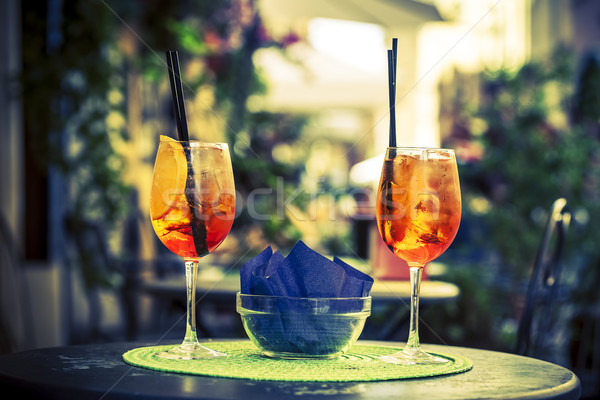 Aperol Spritz Cocktail Stock photo © vwalakte