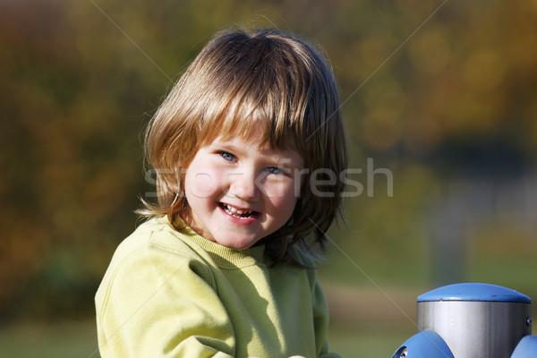 Zdjęcia stock: Portret · dziecko · gry · kolorowy · boisko · szczęśliwy
