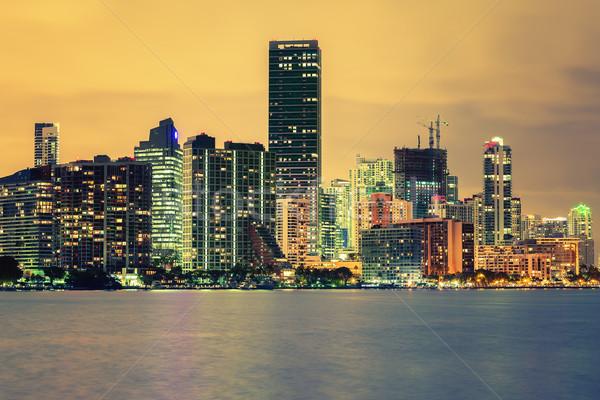 CIty of Miami, summer sunset Stock photo © vwalakte