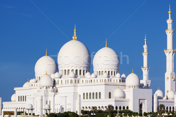 Beautiful view of famous Sheikh Zayed Grand Mosque Stock photo © vwalakte