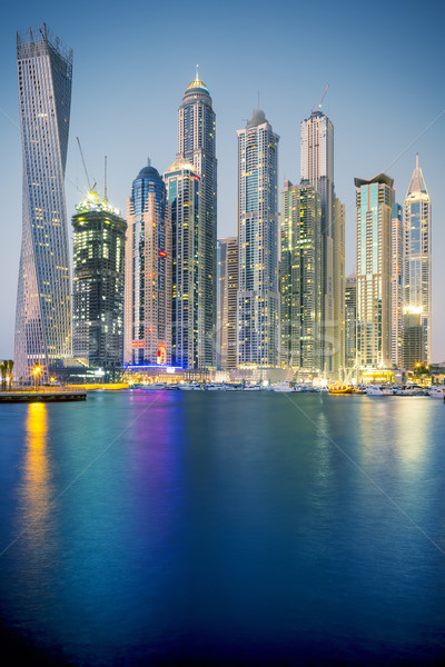 Vertical view of Skyscrapers in Dubai, special photographic proc Stock photo © vwalakte