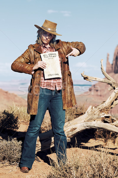 very bad cowgirl Stock photo © vwalakte