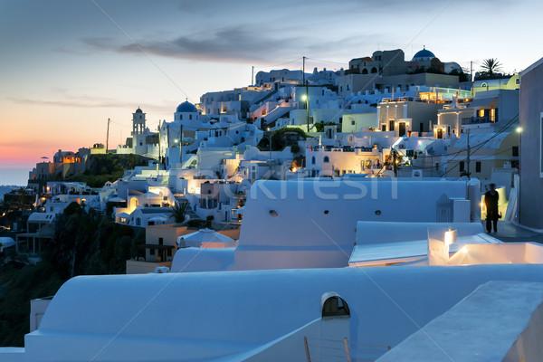 夜景 サントリーニ 画像 島 ギリシャ 空 ストックフォト © w20er