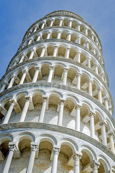 Closeup Leaning Tower Pisa Stock photo © w20er