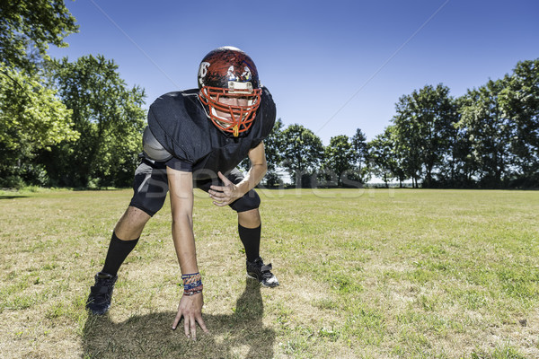 American Football Offensive Lineman in action Stock photo © w20er
