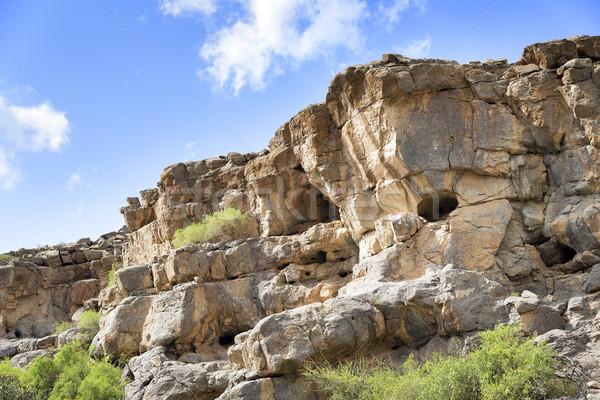 Landschaft Oman Bild Nahen Osten Himmel Baum Stock foto © w20er