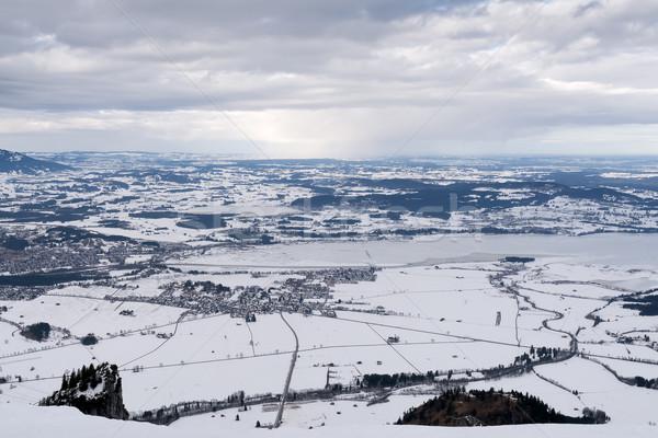 Сток-фото: мнение · форме · горные · Германия · зима · солнце