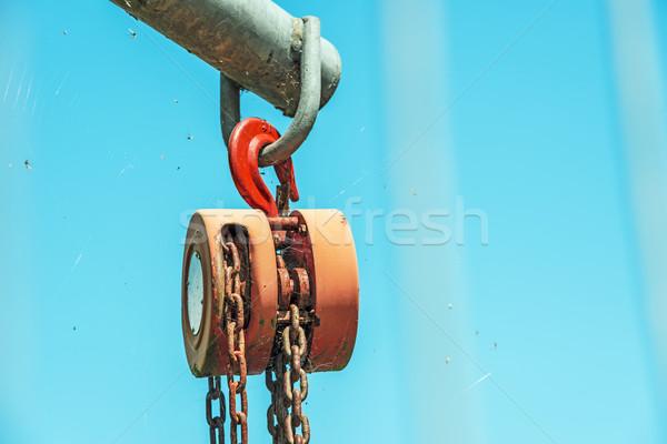 Strong used hoist Stock photo © w20er