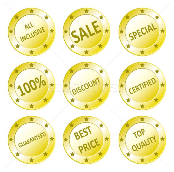Verkoop vector gouden kwaliteit Stockfoto © w20er