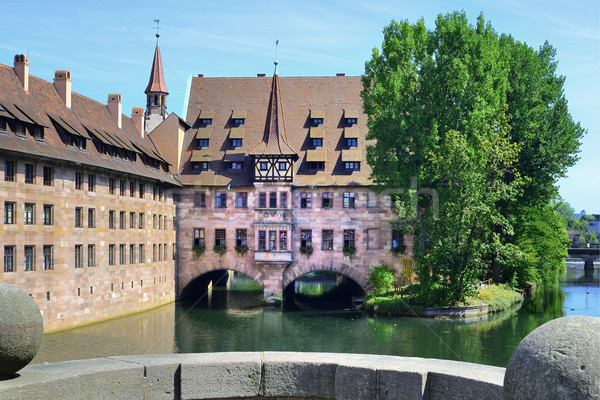 Heilig-Geist-Spital of Nuremberg Stock photo © w20er