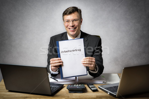 Işadamı iş sözleşme başlık Stok fotoğraf © w20er