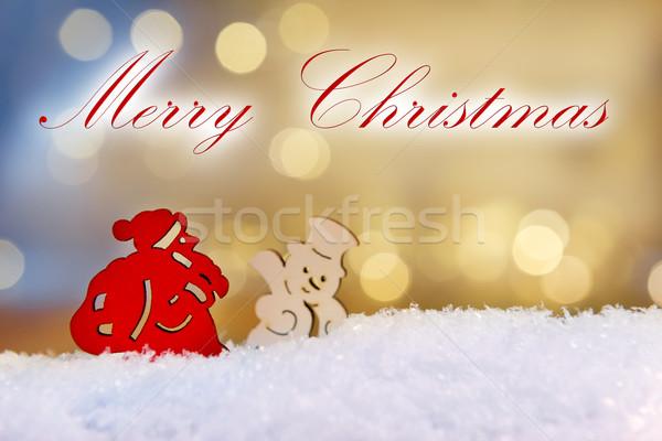 Santa and snowman Merry Christmas Stock photo © w20er