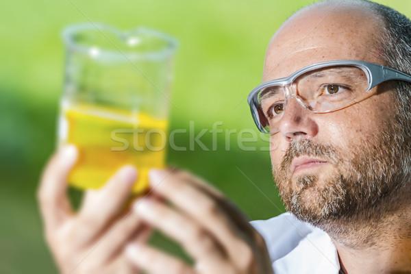 Scientific laboratory with liquid Stock photo © w20er