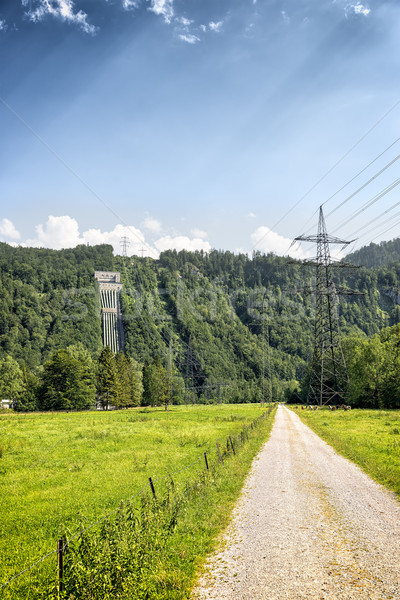 View to power plant at Kochelsee Stock photo © w20er