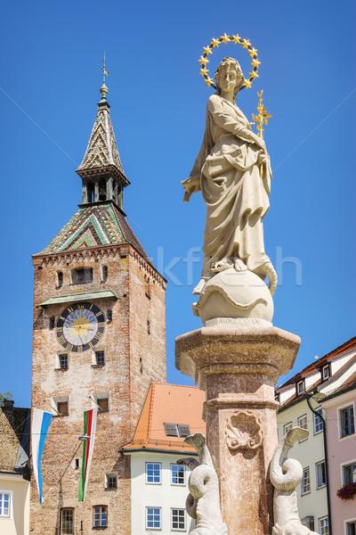 Schmalzturm with Mary fountain Stock photo © w20er