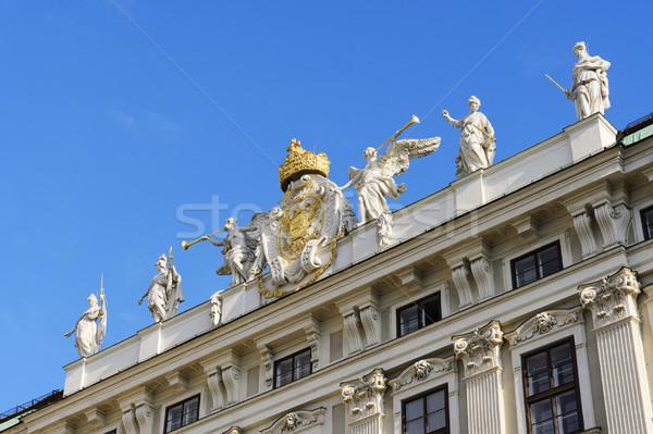 Detay görüntü Viyana Avusturya Bina mavi Stok fotoğraf © w20er