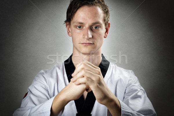 Stock photo: Meditating Taekwon Do Master
