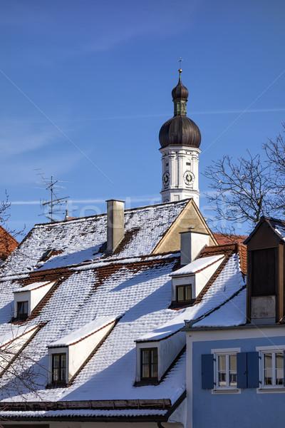 Tower church Maria Himmelfahrt Landsberg Stock photo © w20er