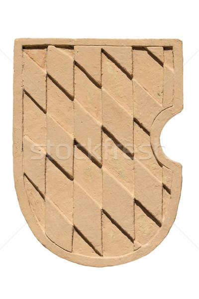 Coat clay with Bavarian diamond pattern Stock photo © w20er