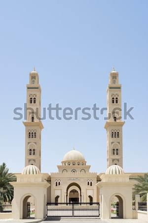 Moskee Oman foto blauwe hemel hemel stad Stockfoto © w20er