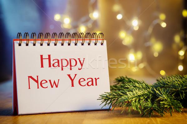 ring binder Happy New Year Stock photo © w20er