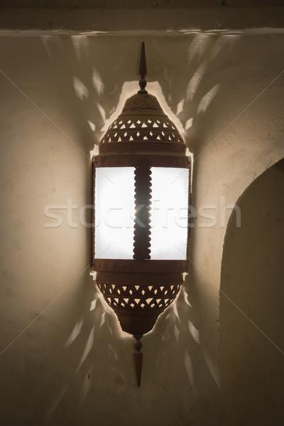 Historisch lamp Oman afbeelding midden oosten muur Stockfoto © w20er