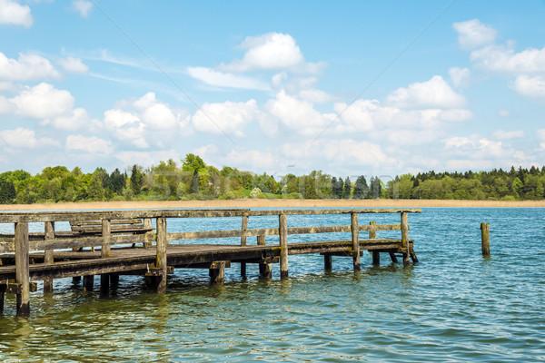 Dilapidated bathing jetty Chiemsee Stock photo © w20er