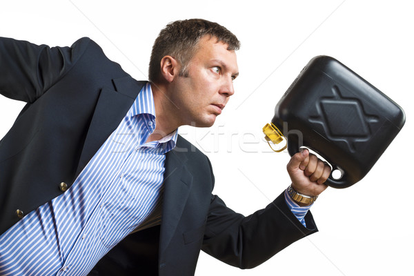 Man with gas can needs urgent fuel Stock photo © w20er