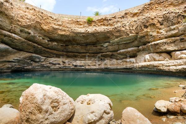Sinkhole Bimmah Oman Stock photo © w20er