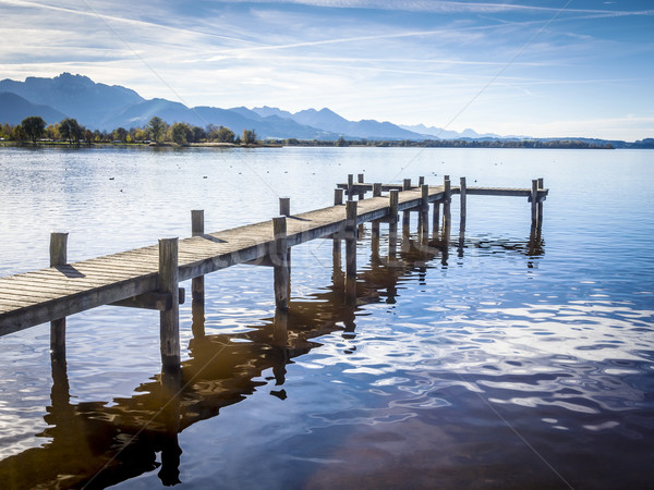 Jetty at the Chiemsee Stock photo © w20er