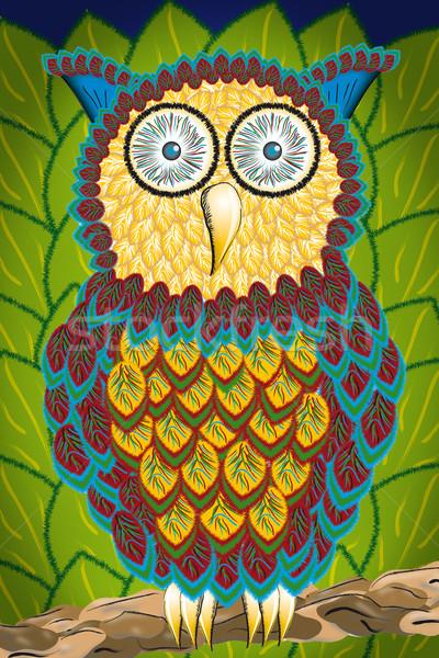 Illustration of an owl Stock photo © w20er
