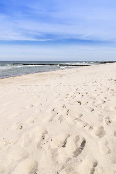Footprints on the beach Stock photo © w20er