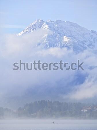Jezioro mgły obraz chmury charakter krajobraz Zdjęcia stock © w20er