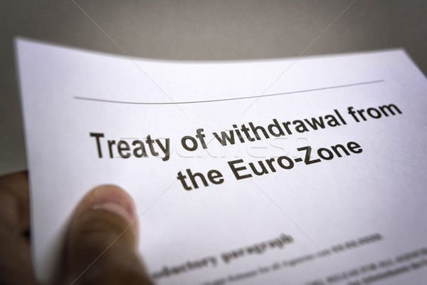 Treaty withdrawal from Euro-Zone Stock photo © w20er