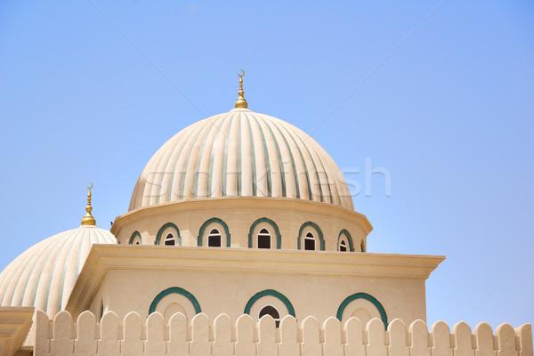 Kubbe cami Umman resim mavi gökyüzü gökyüzü Stok fotoğraf © w20er