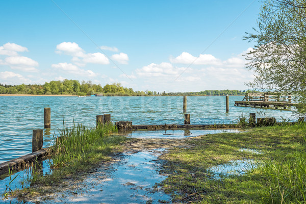 Flooded shore of Chiemsee Stock photo © w20er