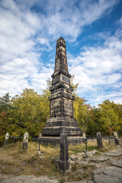 Memorial on Lilienstein Stock photo © w20er