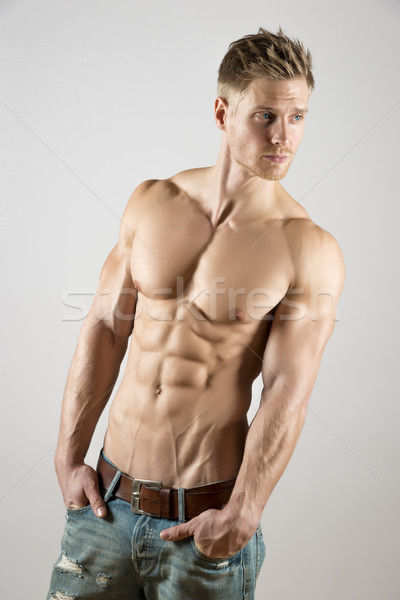 Young athlete with well trained body Stock photo © w20er