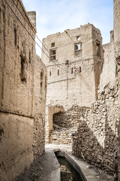 Narrow alley Birkat al mud Stock photo © w20er
