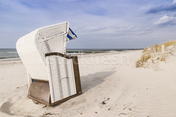 Mar báltico quadro praia duna grama Foto stock © w20er