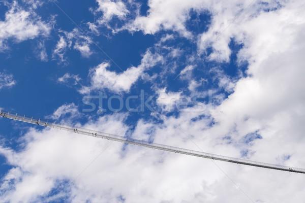 Сток-фото: моста · небо · изображение · цепь · высокий · высота