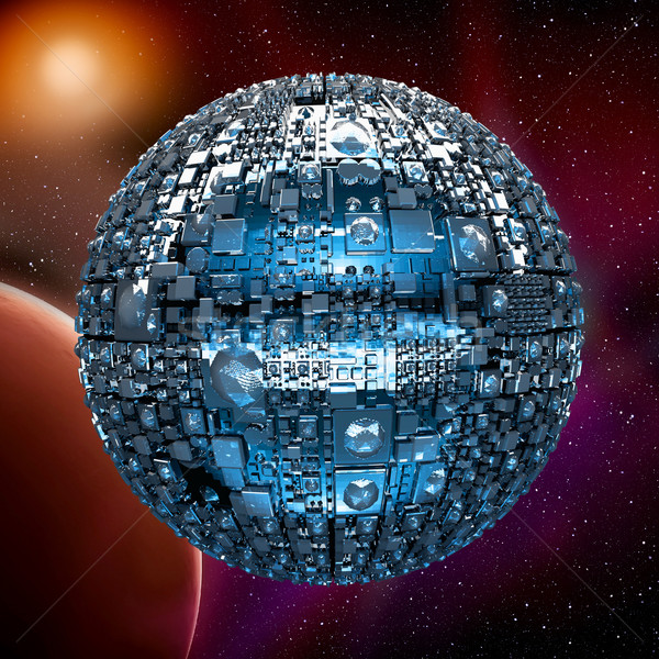 Fictional universe with space battle ship Stock photo © w20er