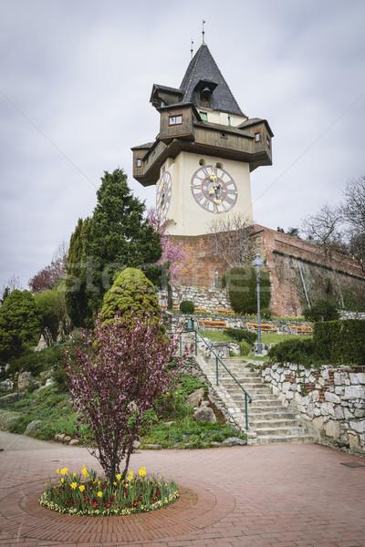 Clock Tower Graz Austria Stock photo © w20er