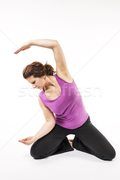 Woman stretch her back Stock photo © w20er