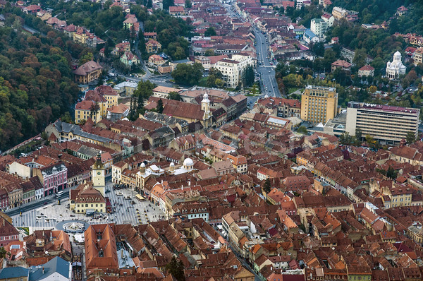View of the city of Brasov in Romania Stock photo © w20er