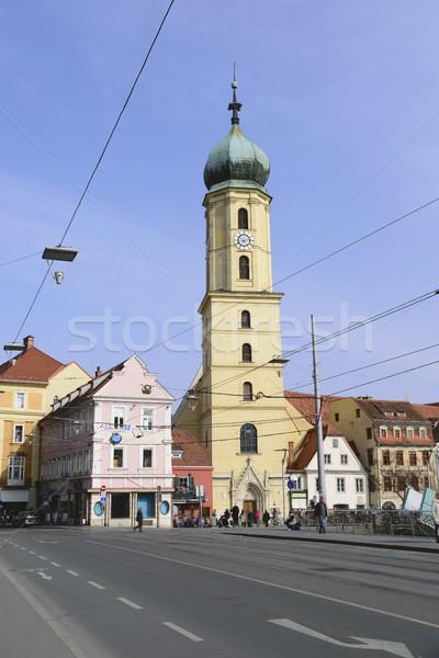 教会 グラーツ オーストリア 画像 ぼやけた 人 ストックフォト © w20er