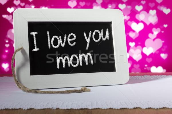 slate blackboard love mom pink Stock photo © w20er
