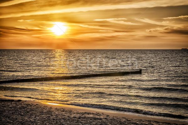 Sunset Baltic Sea Stock photo © w20er